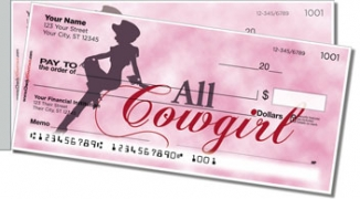 Click on Rodeo Cowgirl Side Tear Personal Checks For More Details