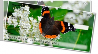 Click on Red Admiral Butterfly Side Tear Personal Checks For More Details