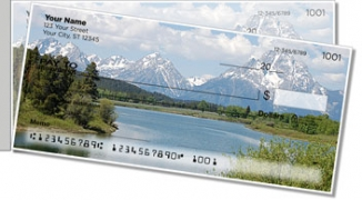Click on Mountain Water Side Tear Personal Checks For More Details