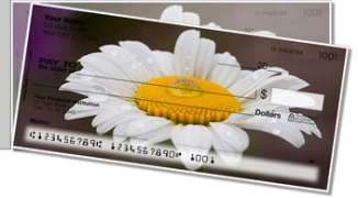 Click on Gerber Daisy Side Tear Personal Checks For More Details