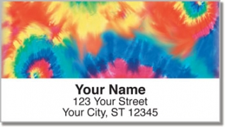 Click on Tie Dye Address Labels For More Details