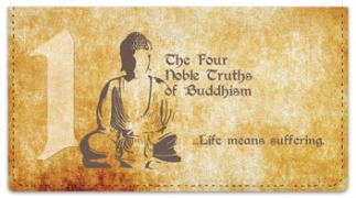 Click on Four Noble Truths Checkbook Cover For More Details