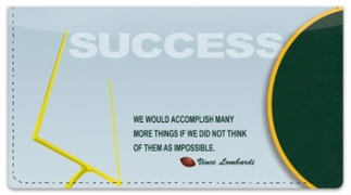 Click on Football Quote Checkbook Cover For More Details