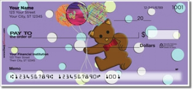 Click on Cute Teddy Bear Personal Checks For More Details