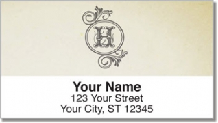Click on H Monogram Address Labels For More Details