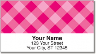 Click on Pink Plaid Address Labels For More Details