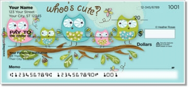 Click on Whoo's Cute Personal Checks For More Details