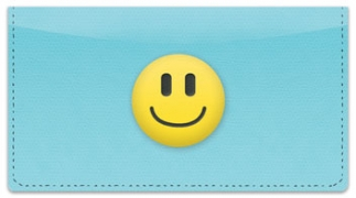 Click on Emoticon Checkbook Cover For More Details