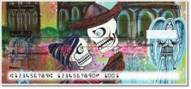 Click on Day of the Dead Skull Personal Checks For More Details