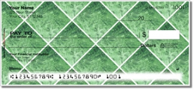 Click on Green Marble Tile Personal Checks For More Details