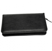 Click on Black Leather Checkbook Cover with Zipper For More Details