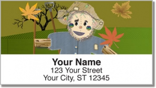 Click on Smiling Scarecrow Address Labels For More Details