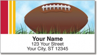 Click on Red & Gold Football Fan Address Labels For More Details