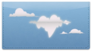 Click on Cloud Shape Checkbook Cover For More Details