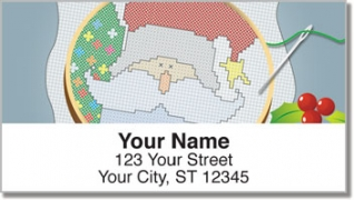 Click on Christmas Cross Stitch Address Labels For More Details