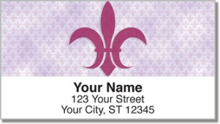 Click on Fleur-de-lis Address Labels For More Details