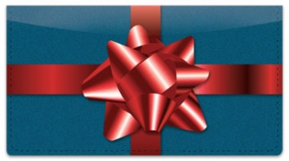 Click on Christmas Bow Checkbook Cover For More Details