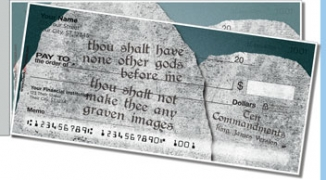 Click on Ten Commandments Side Tear Personal Checks For More Details