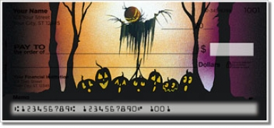 Click on Scary Scarecrow Personal Checks For More Details