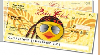 Click on Biker Chick Side Tear Personal Checks For More Details