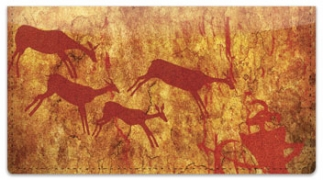 Click on Cave Painting Checkbook Cover For More Details