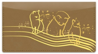 Click on Cat Sketch Checkbook Cover For More Details