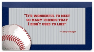 Click on Casey Stengel Checkbook Cover For More Details