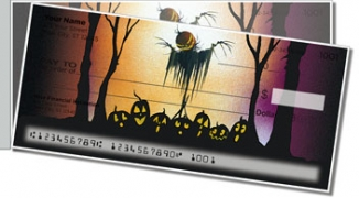 Click on Scary Scarecrow Side Tear Personal Checks For More Details