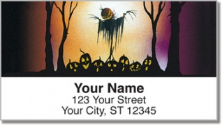 Click on Scary Scarecrow Address Labels For More Details