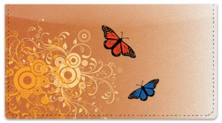 Click on Butterfly Scroll Checkbook Cover For More Details