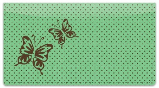 Click on Butterfly Design Checkbook Cover For More Details