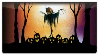Click on Scary Scarecrow Checkbook Cover For More Details