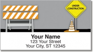 Click on Road Construction Address Labels For More Details