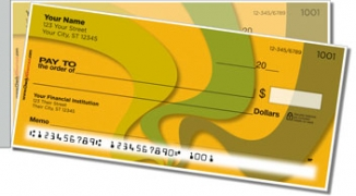 Click on Abstract Orange Side Tear Personal Checks For More Details