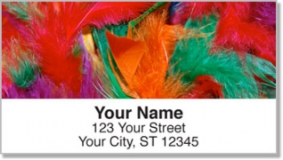 Click on Flashy Feather Address Labels For More Details