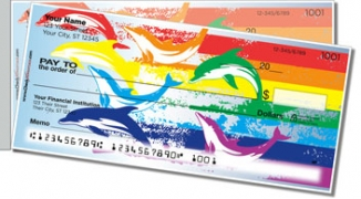 Click on Rainbow Dolphin Side Tear Personal Checks For More Details