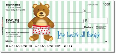Click on Cuddly Teddy Bear Personal Checks For More Details