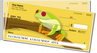 Click on Red-Eyed Frog Side Tear Personal Checks For More Details