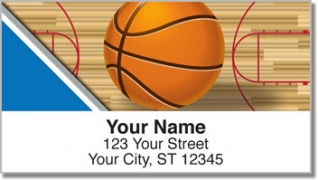 Click on Blue & Silver Basketball Address Labels For More Details