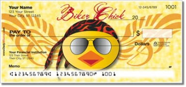 Click on Biker Chick Personal Checks For More Details
