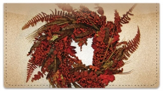 Click on Autumn Wreath Checkbook Cover For More Details
