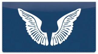 Click on Angel Wings Checkbook Cover For More Details