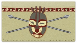 Click on African Tribal Mask Checkbook Cover For More Details