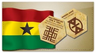 Click on Adinkra Checkbook Cover For More Details