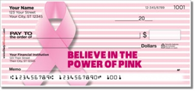 Click on Power of Pink Personal Checks For More Details