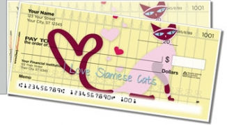 Click on Siamese Cat Side Tear Personal Checks For More Details