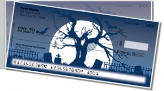 Click on Halloween Graveyard Side Tear Personal Checks For More Details