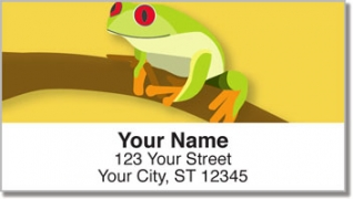 Click on Red-Eyed Frog Address Labels For More Details