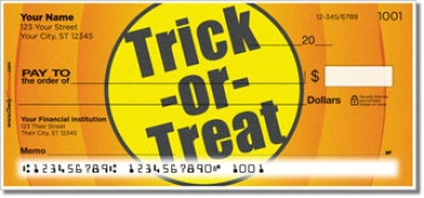 Click on Halloween Personal Checks For More Details