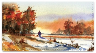 Click on Fall Landscape Checkbook Cover For More Details